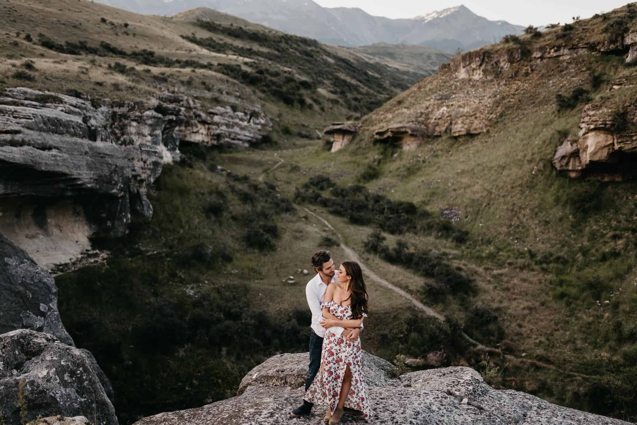 south island mountain pre wedding shoot